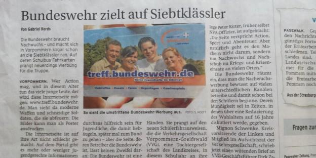 Bundeswehr auf Siebtklässler