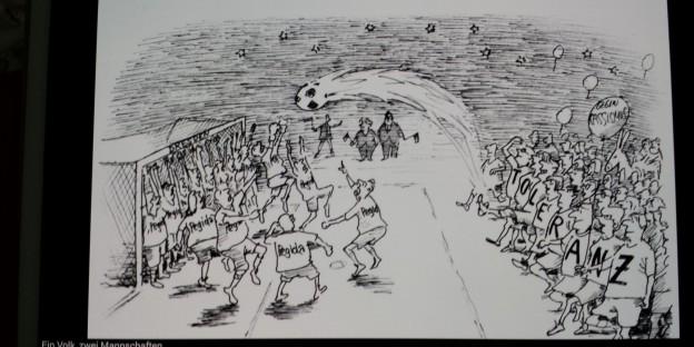 Pegida Karikatur