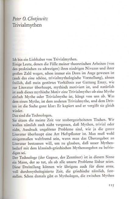 Peter O. Chotjewitz, Trivialmythen