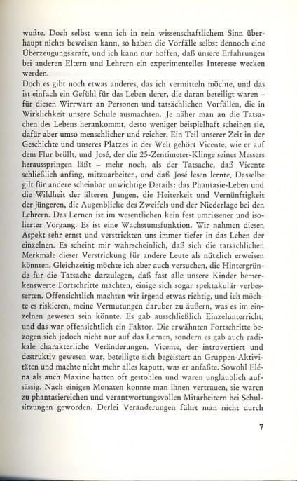 (c) George Dennison, Lernen und Freiheit, März Verlag