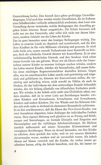 George Dennison, Lernen und Freiheit, März Verlag