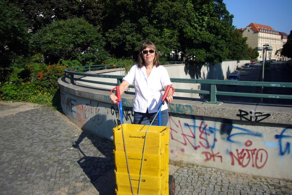 Barbara Kalender am Bundesplatz. Foto: Jörg Schröder