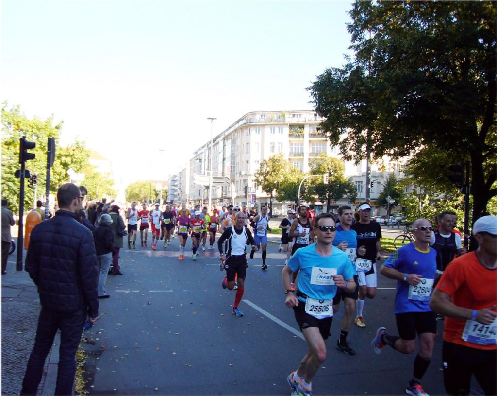 40. Marathon in Berlin, Schöneberger Rathaus, Foto: Barbara Kalender