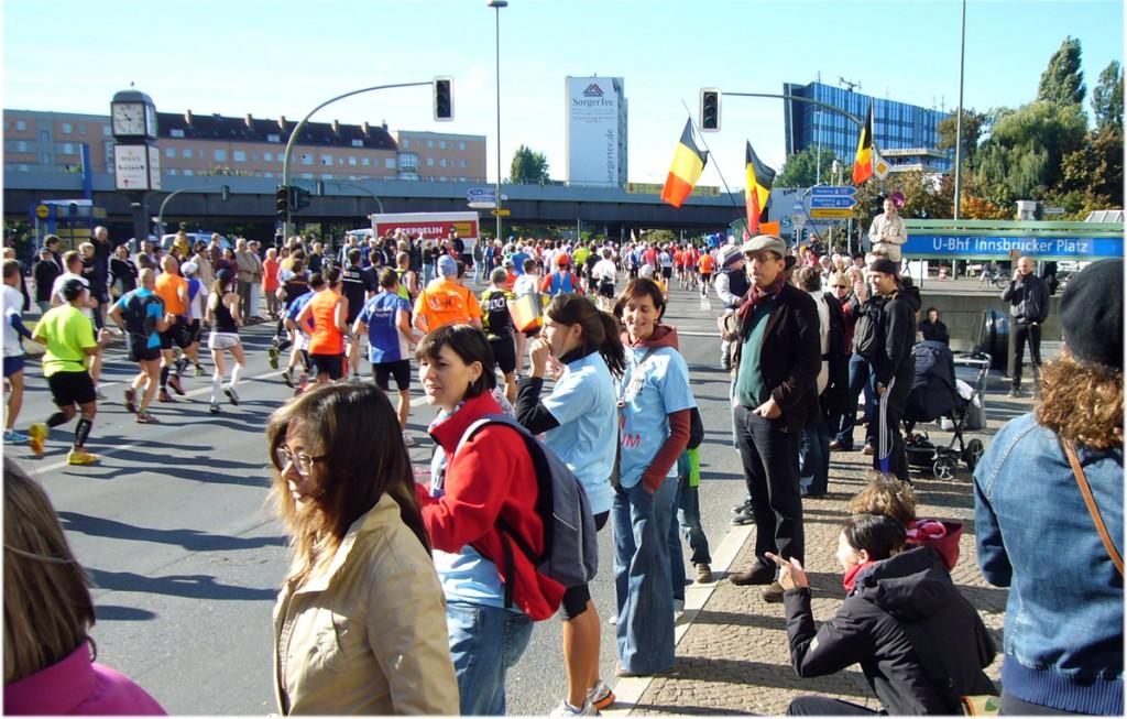40. Marathon in Berlin, Innsbrucker Platz, Foto: Barbara Kalender