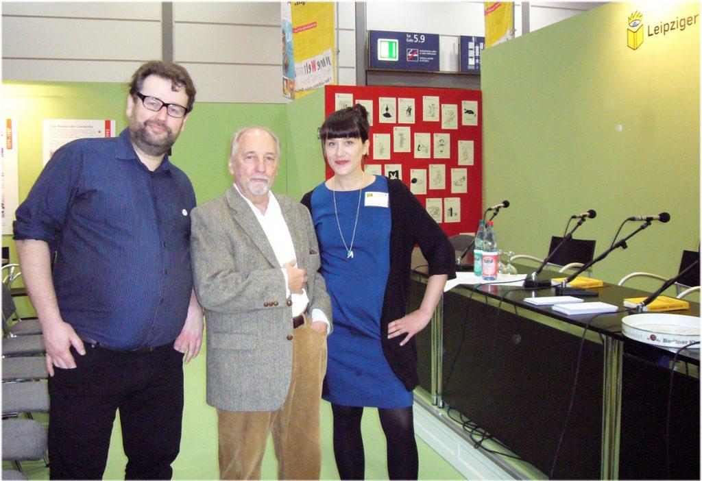 Jörg Sundermeier, Jörg Schröder und Marte Ohrt, Foto: Barbara Kalender