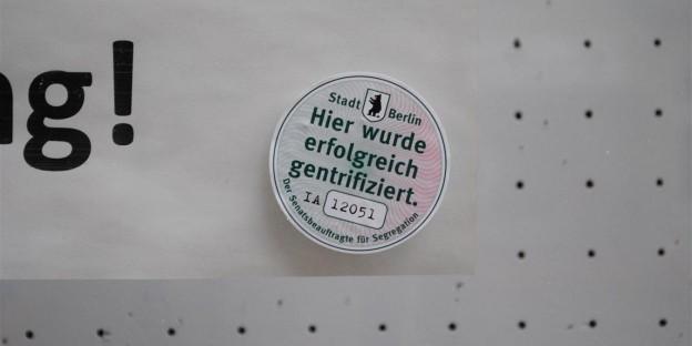 Hier wurde erfolgreich gentrifiziert. Schudomastraße. Berlin-Neukölln.