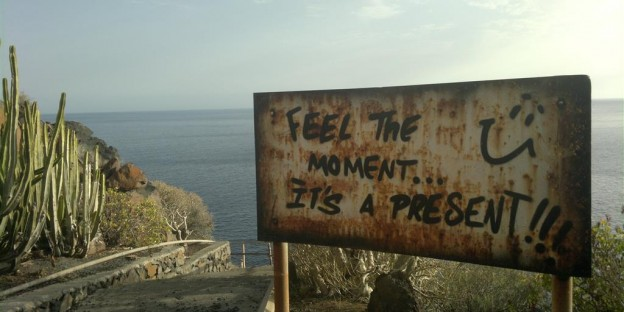 Feel the moment - it's a present. La-Palma. Foto: F.Belz