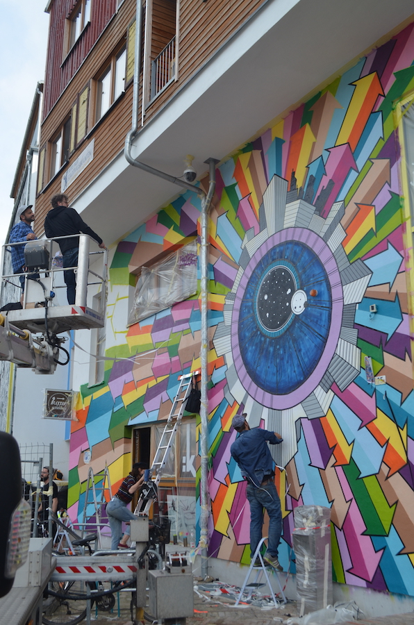 Klebebande - Berlin Mural Festival, Holzmarktstr. 25