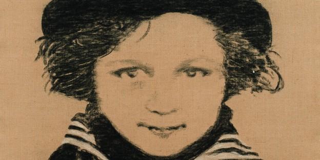 Manfred Bockelmann: Josef Maria Schneck, 2010-13, Kohlezeichnung auf Jute, 150 x 110 cm / Foto: VBK Wien, F. Neumüller