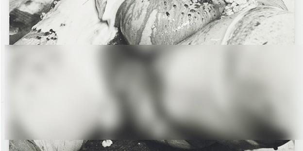 Hermann Nitsch: 31. Aktion, München 1969 / Angaben zum bearbeiteten Foto im Katalog »Hermann Nitsch. Sinne und Sein« (Metroverlag): L. Armbruster, L. Hoffenreich, K. Nievers, Atelier Nitsch, M. Thumberger, Vintageprint auf Holzfaserplatte