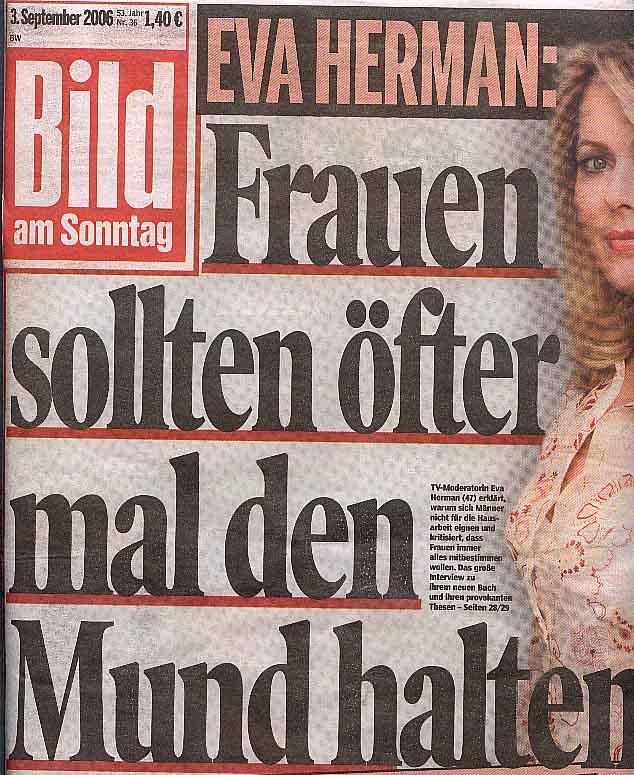 BamS-Titelseite (Ausschnitt), 3.9.2006